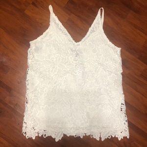 NWT White house black market eyelet lace cami